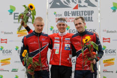 Podium Long Men: Lundanes, Kyburz & Daehli (fltr)