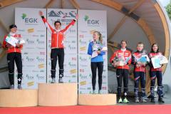 Podium Long Women: Hauswirth, Roos & Gemperle (fltr)