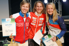 Podium Middle Women, EGK Orienteering World Cup 2019 Laufen