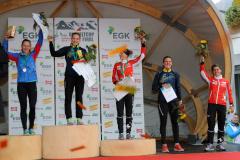 Over all podium in the IOF Orienteering World Cup 2017 Women