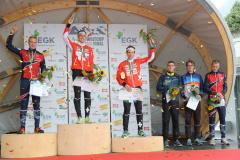 Over all podium in the IOF Orienteering World Cup 2017 Men