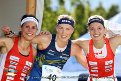 Podium Sprint Women, EGK Orienteering World Cup 2019 Laufen