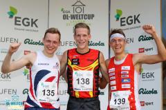 Podium Sprint Men, EGK Orienteering World Cup 2019 Laufen