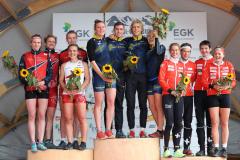 Norway 1, Sweden 2, Switzerland 2 (fltr) - Mixed Sprint Relay