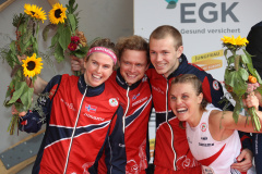 Team Norway 1 second in the Mixed Sprint Relay